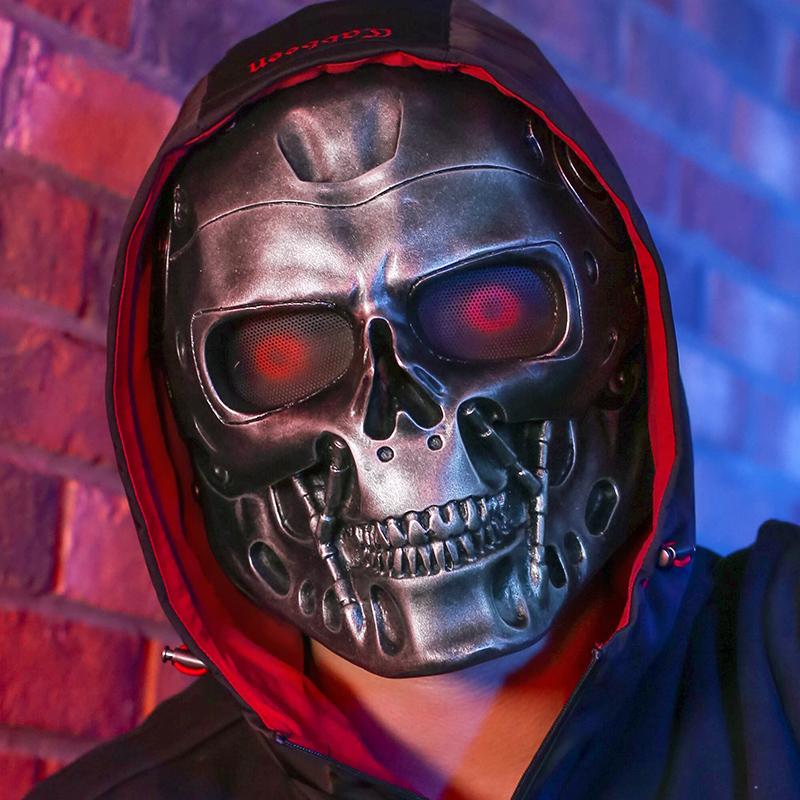 万圣节面具终结者树脂恐怖机器人头套COS装扮道具电影周边道具 Изображение 1