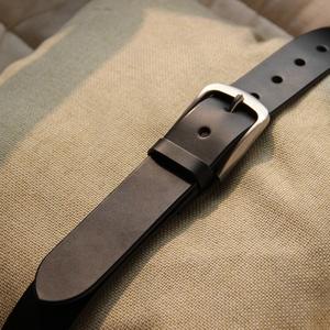 手工意大利植鞣革不锈钢针扣皮带