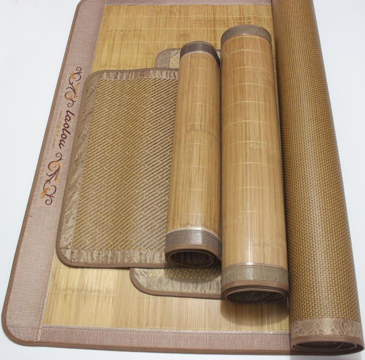 清仓处理高档双面直筒原色竹席子凉席磨光宽边1.5/1.8米不对折