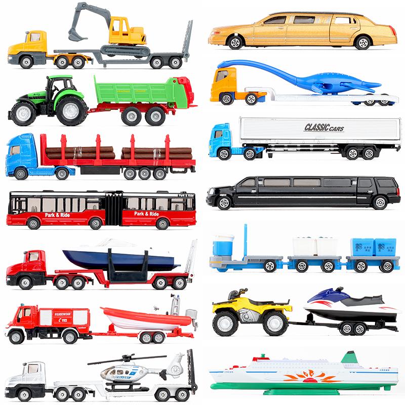 仕高迷你工程�\�汽�巴士拖拉�C�和�男孩子仿真合金汽�模型玩具