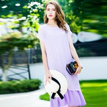 特四月初九加大码女装胖MM2020夏两件套连衣裙美不胜收六色香料色
