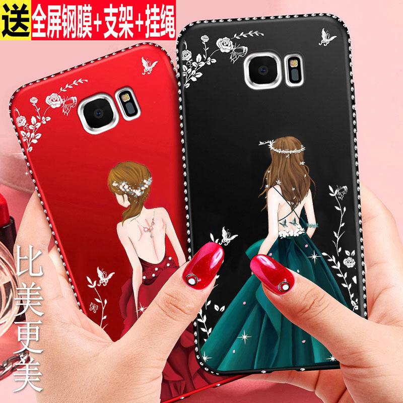 三星s7edge手机壳S7保护硅胶套SMG9350曲面屏防摔9300软壳女款潮