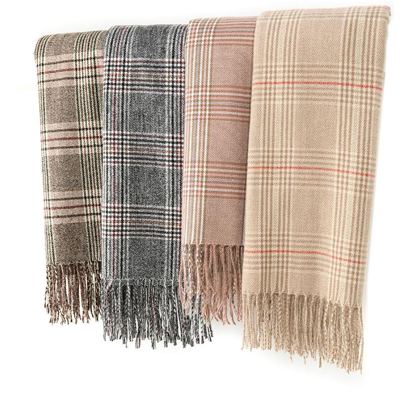 烈儿Lierkiss【苏格兰围巾】230g明星同款保暖围巾K04WJ2644