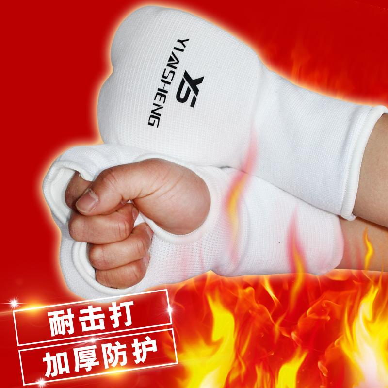 Чрезвычайно каратэ перчатки Два ряда пальцев и удар перчатки Тэ-Квон-ду-рукавицы каратэ-костяшки