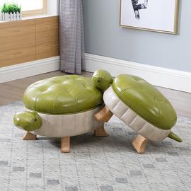实木脚凳创意乌龟凳皮凳沙发凳搁脚矮凳试鞋凳富贵招财门口换鞋凳