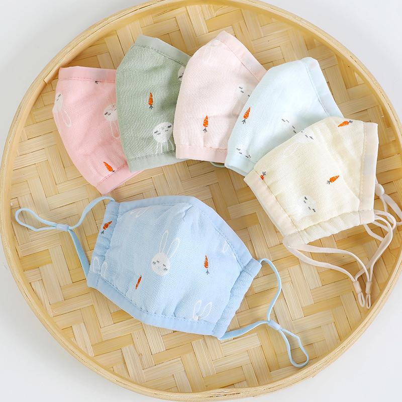 14.80元包邮0-1岁婴幼儿纯棉纱布秋冬防风口罩