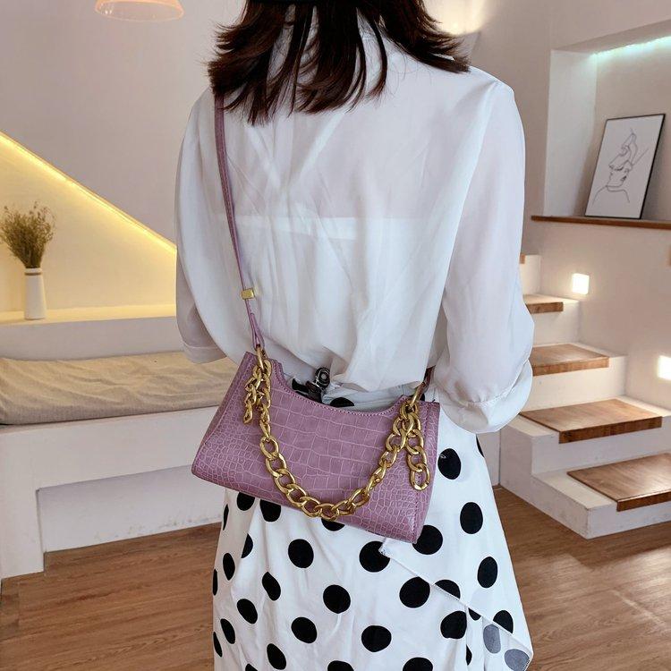 2020夏季新款女士包袋纯色单肩包合成革其他PU单肩斜挎手提