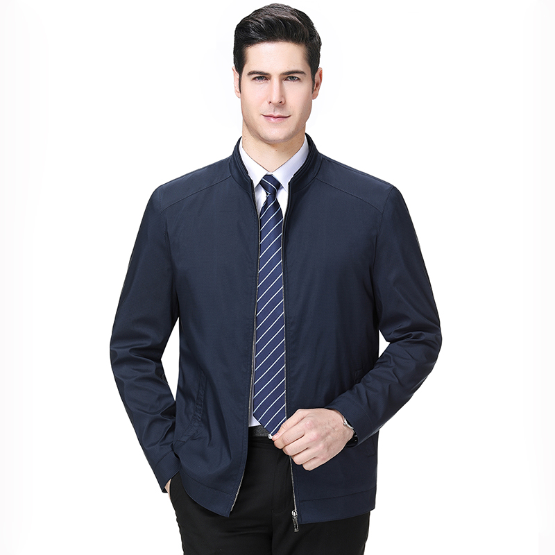 Hengyuanxiang genuine new mens jacket casual coat easy wear business solid color jacket
