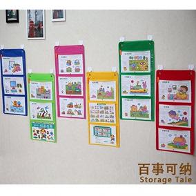定制2格透明图书挂袋幼儿园展示袋