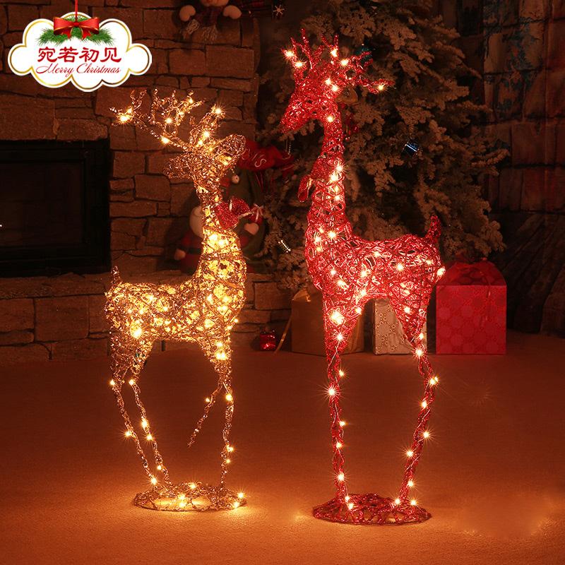 Рождество декоративный статья железо олень виноградная лоза олень рождество декоративный олень крупномасштабный рождество сцена ткань положить рождество декоративный статьи