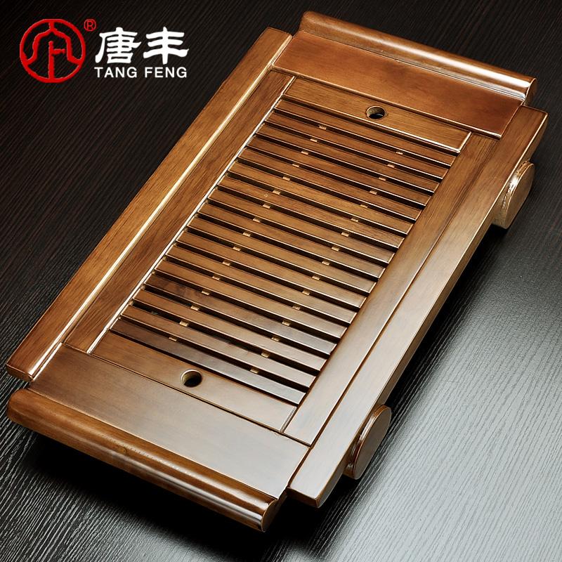 唐豐原木實木茶台茶具茶盤 功夫茶海抽屜式排水茶池 TF~142