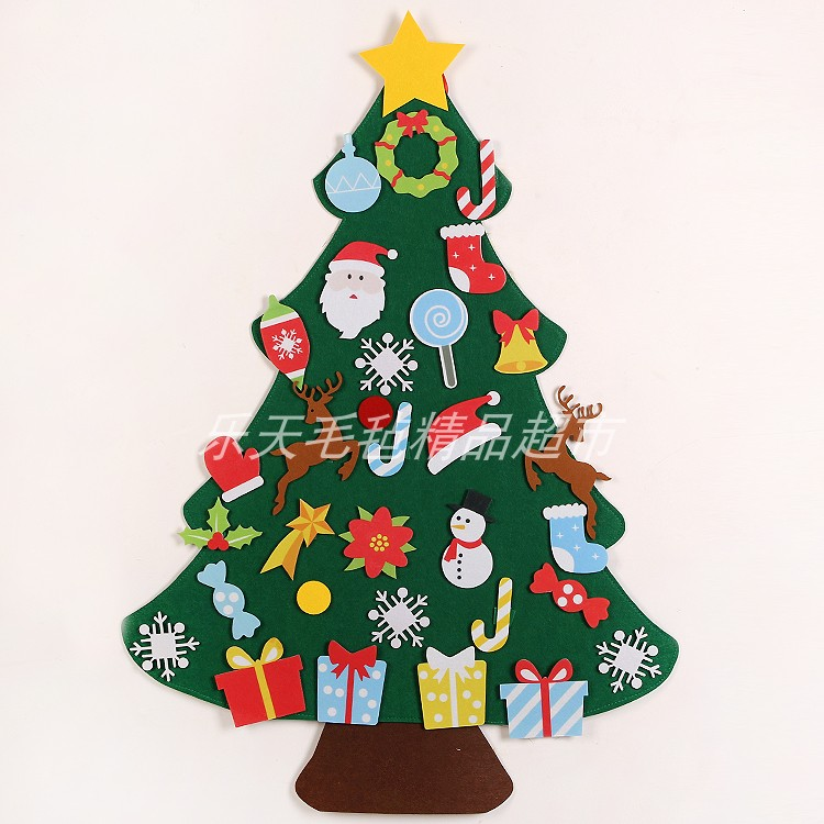 Christmas decorations DIY non woven felt Christmas tree wall stickers gift