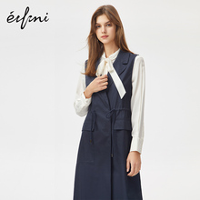 Evelyn Autumn 2009 New Korean Edition Fashion Mid-long Draw-rope Vest Jacket 1A7916062