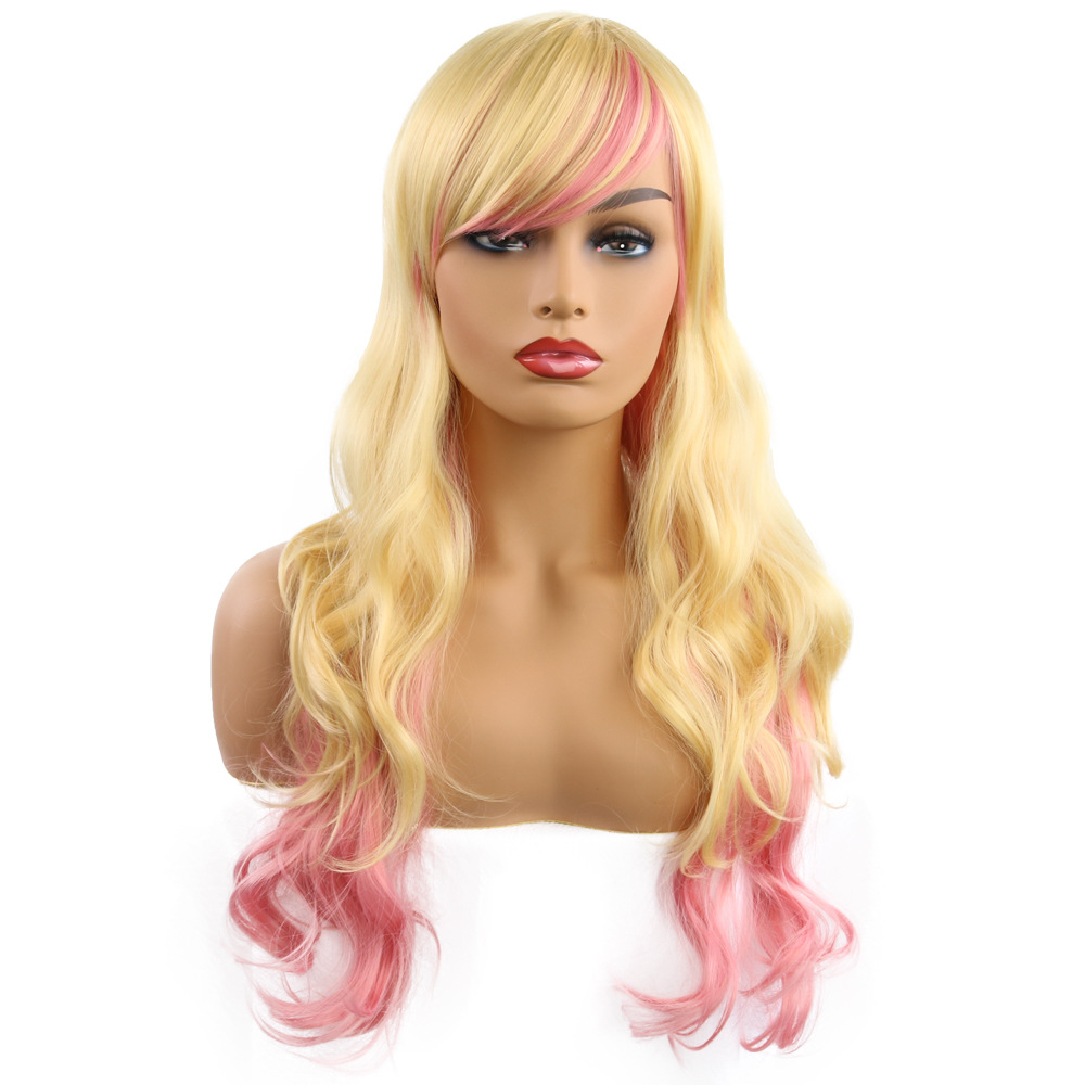 Lol wig original home wind other department Lolita role play rainbow colorful other wigs it