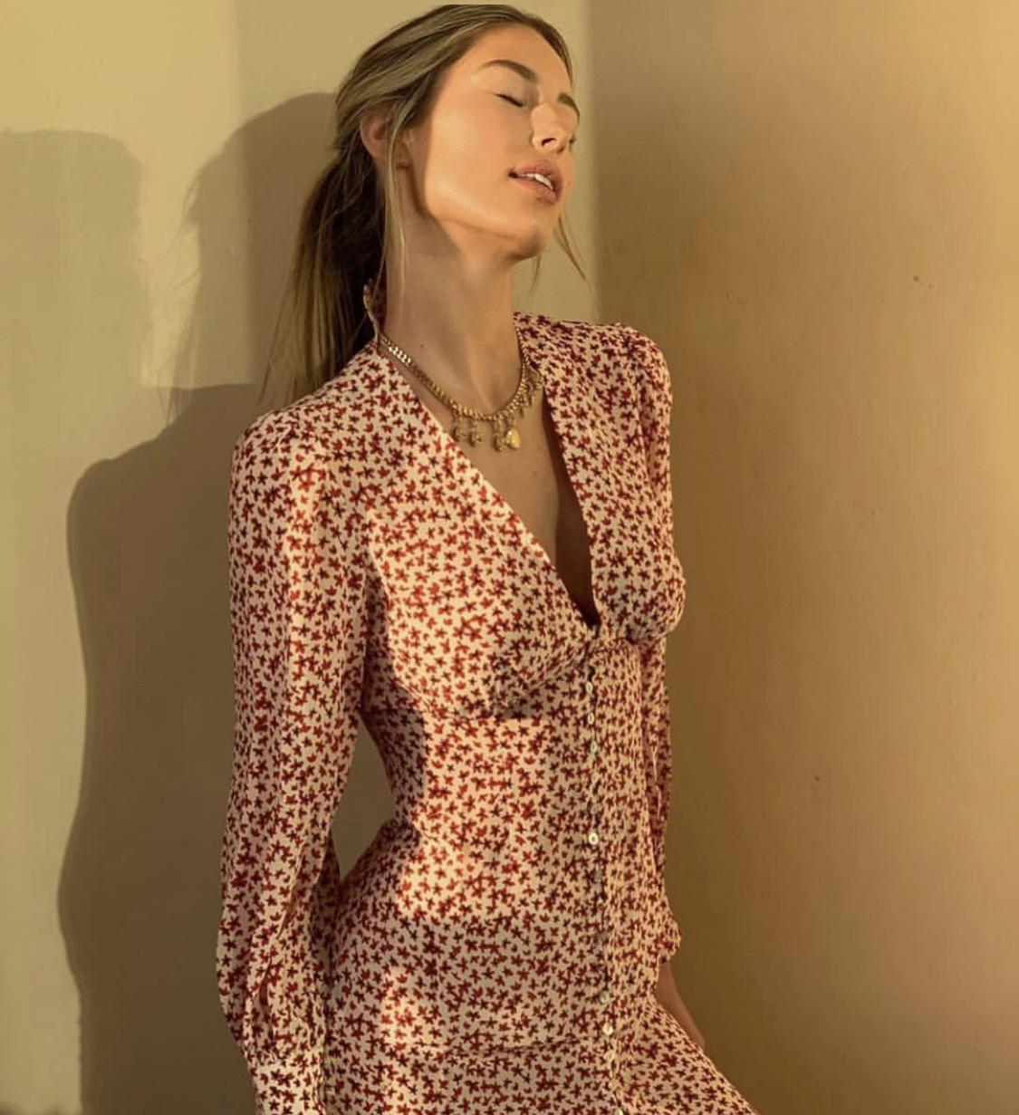 pixiemarket欧洲站法式复古连衣裙(非品牌)