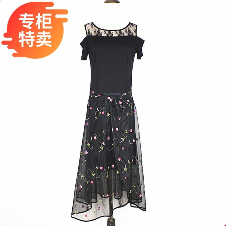2020夏装品牌专柜特卖 伊百丽E17B115 时尚套装修身高腰显瘦套裙