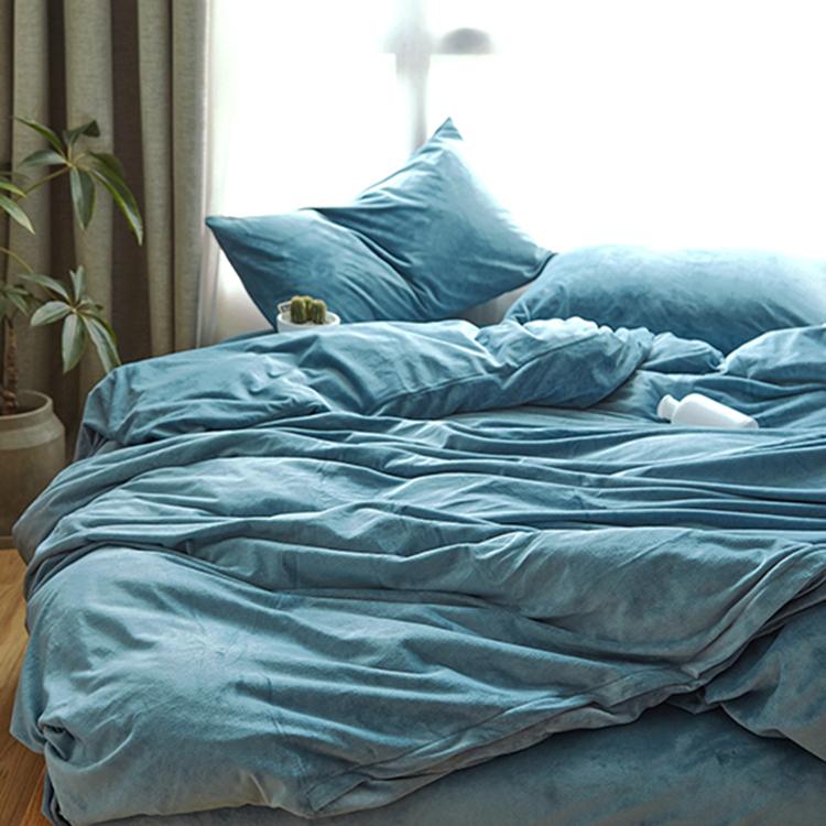 Японский простой твердый бархат одеяло один 1.5 двойной 200x230 только одеяло осень и зима кровать статьи
