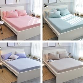 天竺棉床笠單件針織全棉床單親膚純棉被單床罩棕墊席夢思保護套圖片