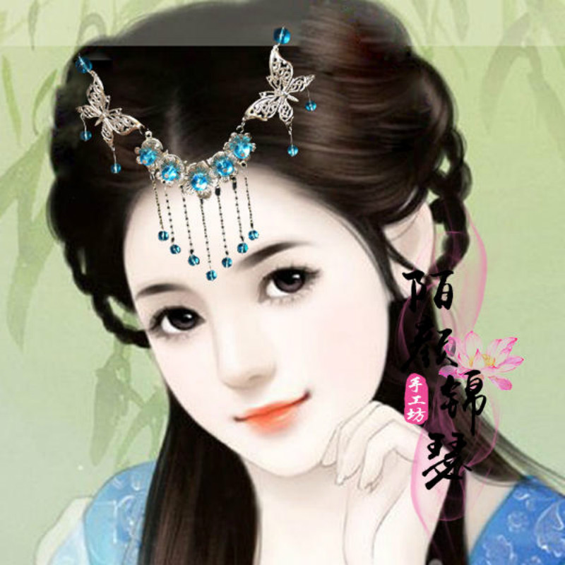 Package mail new classic ancient style Hanfu hairpin with tassels
