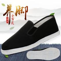 老北京布鞋男手工千層底布鞋夏季全布底軟底透氣一腳蹬防滑布底鞋