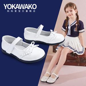 小林川子春秋女童鞋子儿童单鞋皮鞋