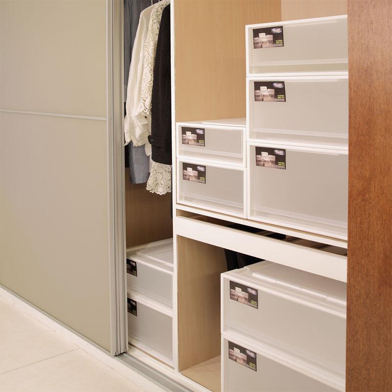 抽屉式收纳柜子塑料衣柜收纳盒衣服收纳箱多层加厚自由组合储物柜