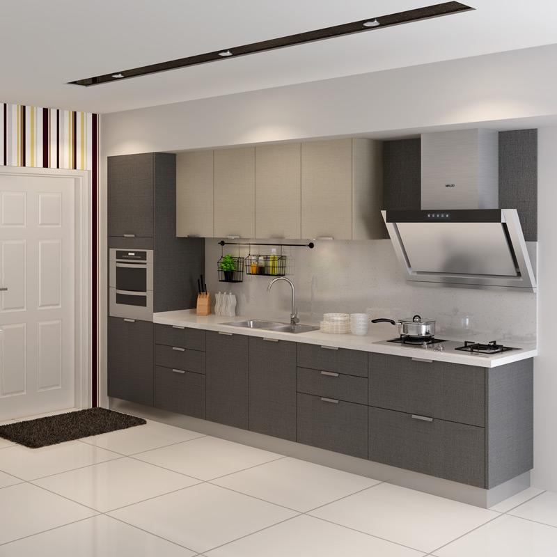 全国通用金牌橱柜现代简约极有家石英石台面整体厨房橱柜组装定制