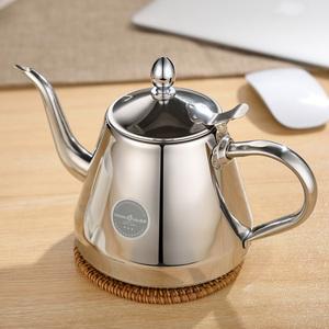 不锈钢烧水壶平底功夫茶泡茶壶茶具电磁炉电陶炉专用加厚小水壶