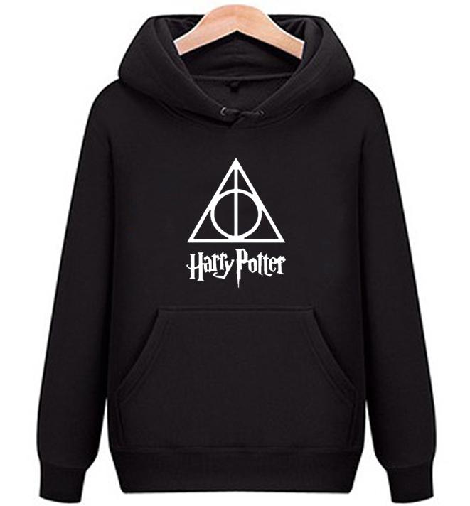 电影哈利波特 Harry Potter 死亡圣器男女情侣款连帽卫衣外套衣服