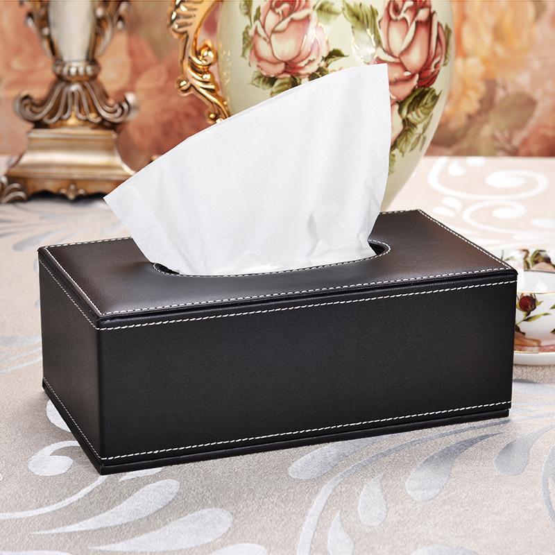 皮革纸巾盒抽纸收纳盒茶几客厅车家用家居简约创意可爱北欧式定制