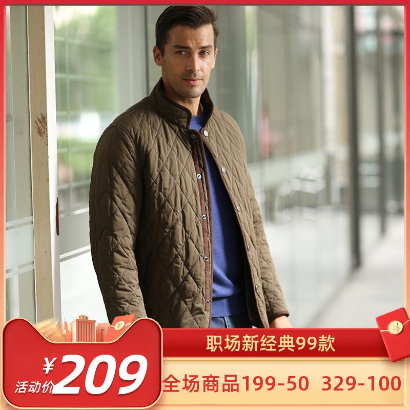 【秒杀】大卫山休闲商务棉服通勤棉衣夹克男士上班保暖薄棉袄4图片
