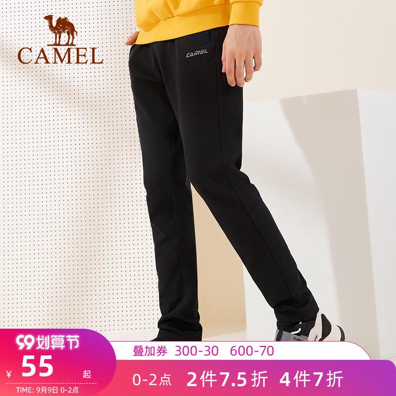 骆驼户外运动2021宽松直筒裤子卫裤