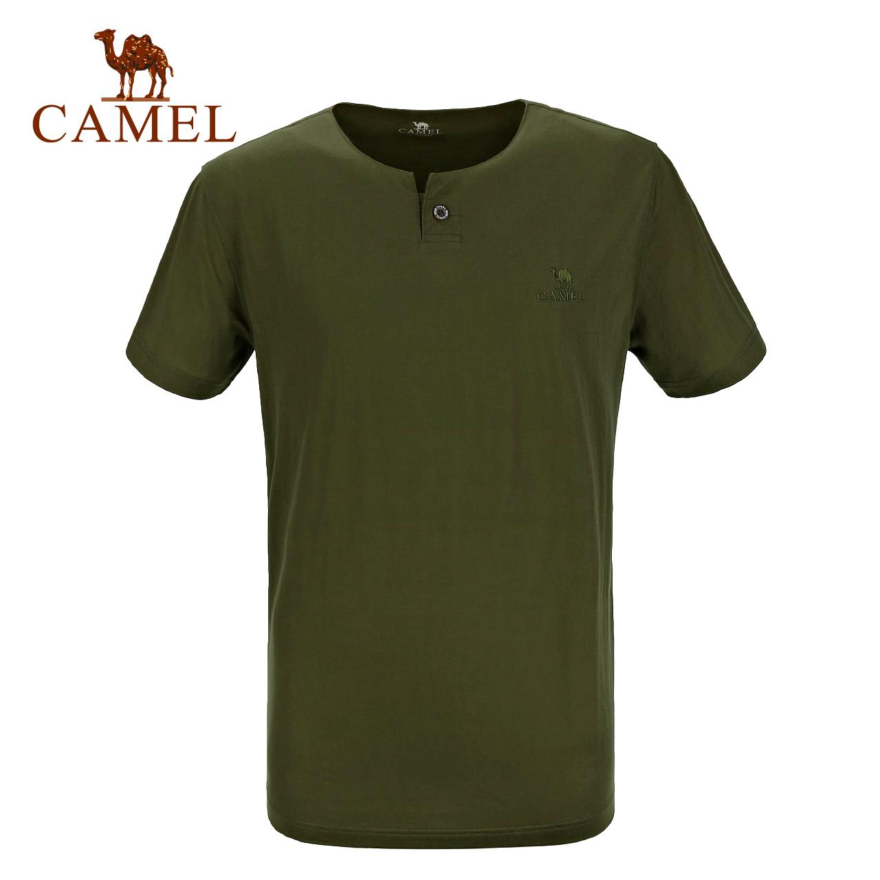 CAMEL骆驼户外男款休闲圆领T恤 春夏轻薄透气短袖舒适T