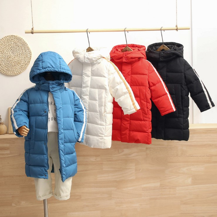 Intimate baby new mid long childrens down jacket in autumn / winter 2019 thickened long down coat