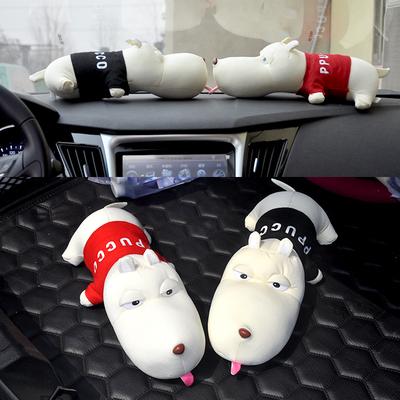 竹炭狗车载摆件个性 创意可爱汽池谑巫柏饰用品车子车上摆设车饰品