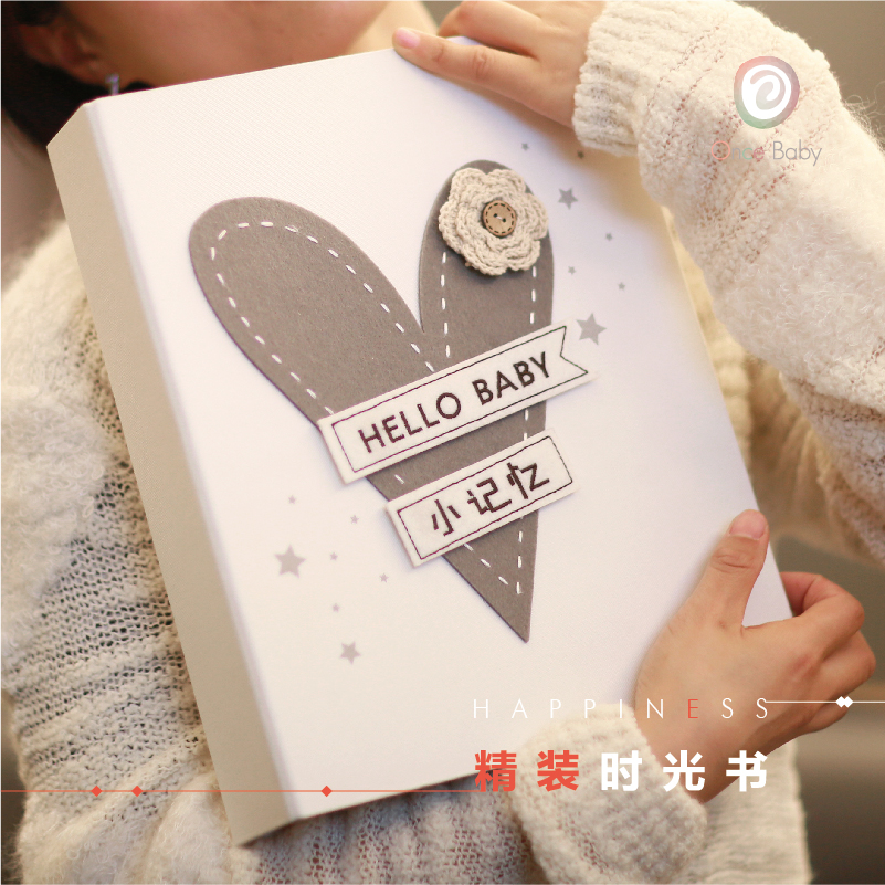 Once Baby ребенок выращивание альбомы годовщина книга diy ребенок из рожденные дети ребенок запись книга новорожденных подарок