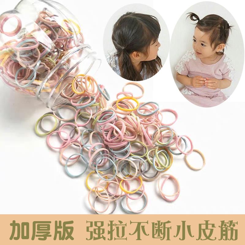 儿童发饰基础款头绳发圈碎发整理发绳高弹一次性扎头发橡皮筋桶装