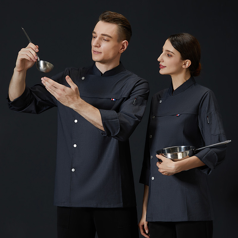 Bread and hamburger division work clothes long sleeve autumn clothes baking Chef Uniform barbecue division uniform dim sum master work clothes Chef