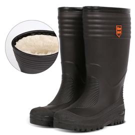 冬加绒雨靴中高筒雨鞋一体加棉套保暖水鞋加厚防滑胶靴防水靴男女图片
