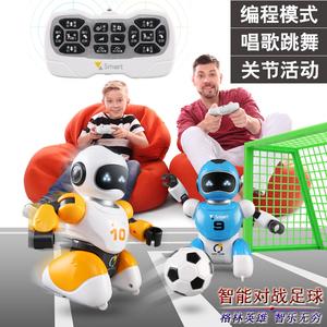 领2元券购买智能足球对战机器人双人无线遥控编程机械战警充电动儿童男孩玩具