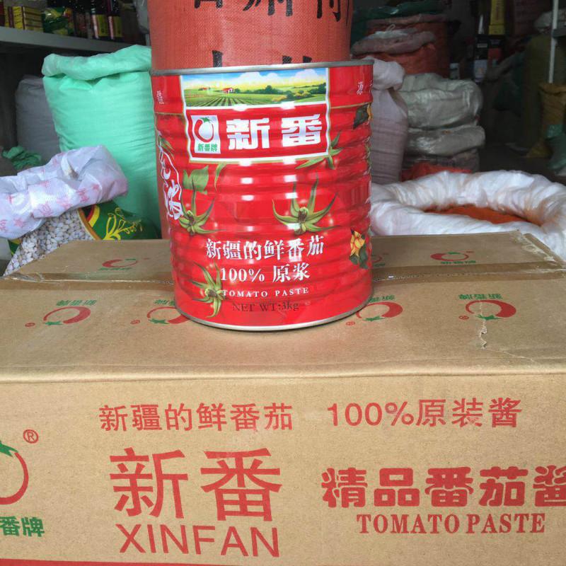 新番番茄酱6斤新疆西红柿罐头无添加番茄酱 餐厅酒店火锅店用酱