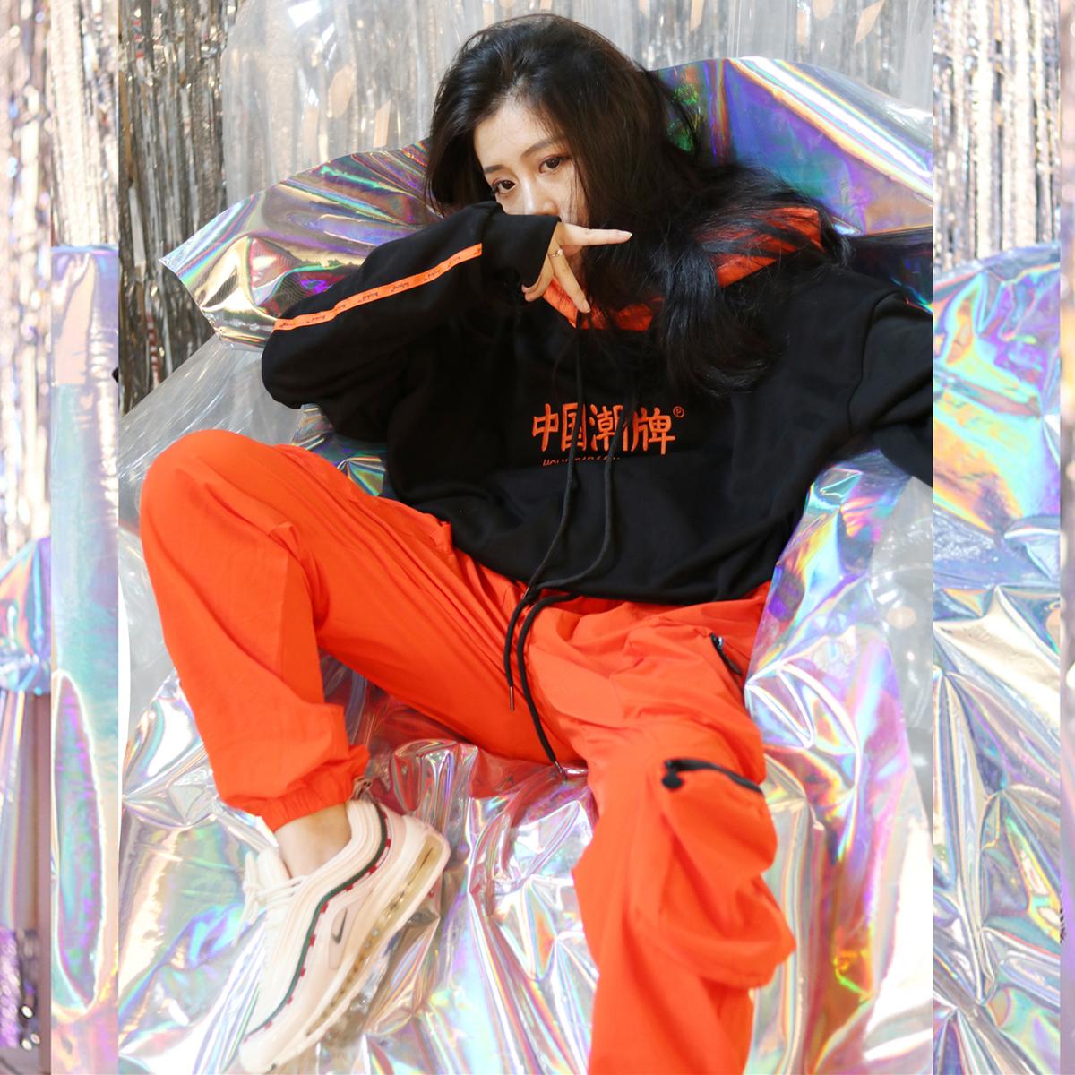 10-28新券男女hiphop嘻哈国潮束脚显瘦运动裤