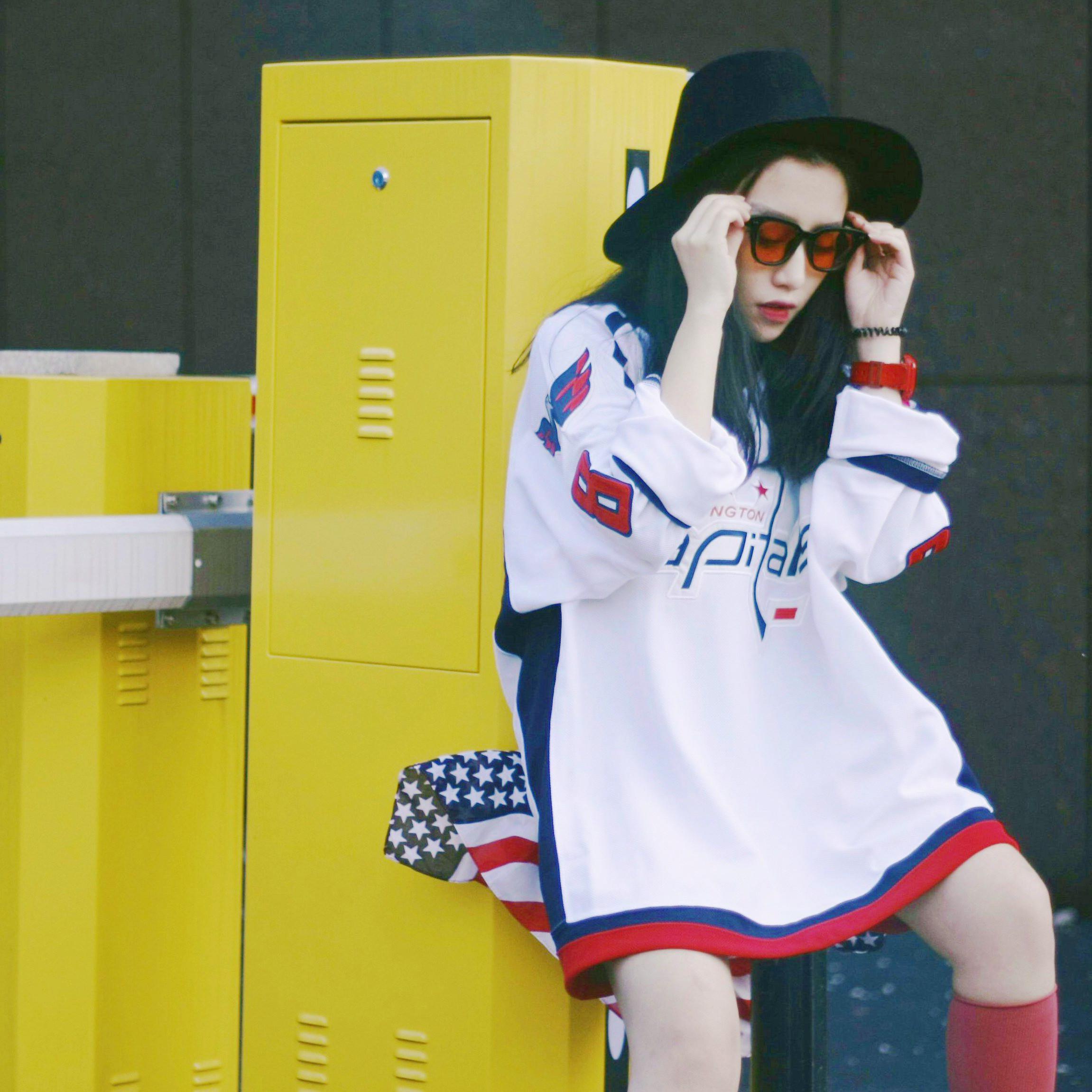男女hiphop嘻哈潮牌T恤中长款ulzzang街舞印花长袖宽松情侣装夏季