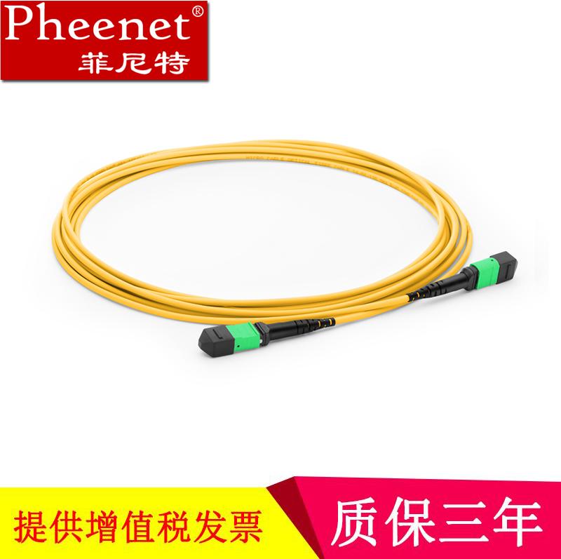 菲尼特 MPO-MPO 8芯单模万兆40G 12芯MTP光纤机房交换机光模块跳线