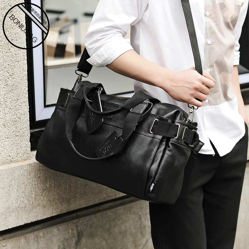 Horizontal single shoulder bag mens leisure retro business bag mens business handbag trendy mens backpack
