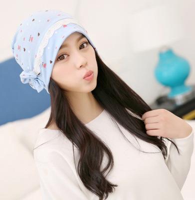 月子帽秋季产后用品保暖防风孕产妇帽子秋冬款百搭孕妇冒全棉头巾