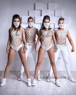 欧美夜店酒吧舞台派对演出服装走秀个性穿戴夸张身体文艺连体带