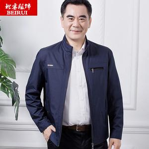 2020新款春装薄款爸爸外套春秋中年男装休闲夹克衫40中老年人50岁