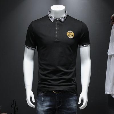 男士短袖POLO衫 高端丝光珠地棉 大码保罗衫B36 P85 黑色