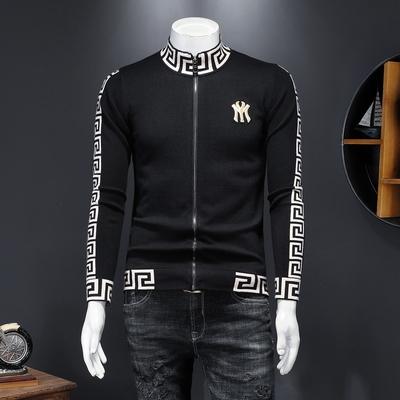 男士开衫外套2021春秋新款拉链衫针织毛衣夹克衫2061 P139